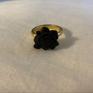 Marc by Marc Jacobs black rose ring
